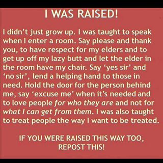 Are You Proud of How You Were Raised?